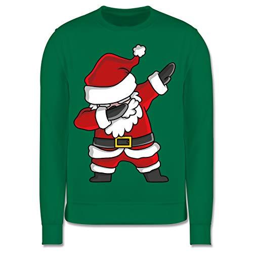 Shirtracer Weihnachten Kind - Dabbing Weihnachtsmann - 152 (12/13 Jahre) - Grün - JH030K_Kinder_Pullover - JH030K - Kinder Pullover