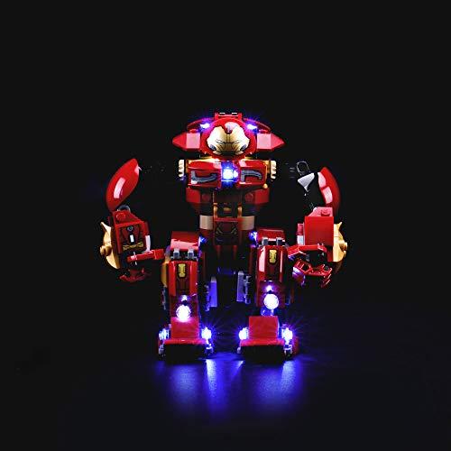 LIGHTAILING Conjunto de Luces (Super Heroes Incursión Demoledora del Hulkbuster) Modelo de Construcción de Bloques - Kit de luz LED Compatible con Lego 76104 (NO Incluido en el Modelo)