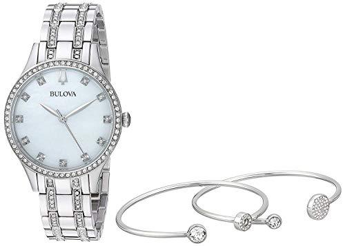 Bulova Damen Analog Quarz Uhr mit Edelstahl Armband 96X145