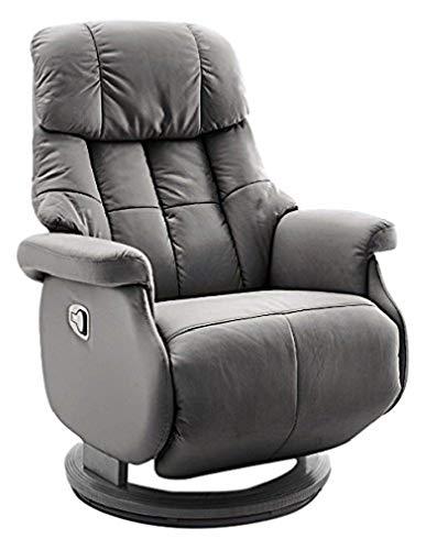 Robas Lund Leder Relaxsessel bis 130 Kg TV Sessel, Relaxer Fernsehsessel Echtleder schlamm, Calgary Comfort L