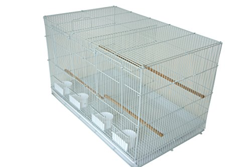 YML Medium Breeding Cage with Divider, 30 x 18 x 18 White