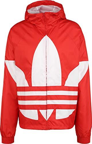 adidas Big Trefoil Winbreaker, Giacca Sportiva Uomo, Rosso (Lush Red), S