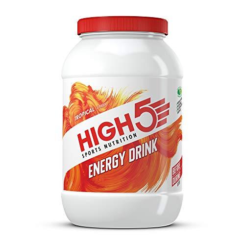 HIGH5 Energy Drink, veganes, erfrischendes, isotonisches Sportgetränk aus Kohlenhydraten und Elektrolyten – Tropische Früchte – 2,2kg