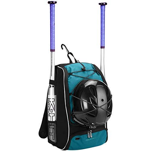 Amazon Basics - Mochila juvenil para equipo de béisbol, Azul (Royal Blue)