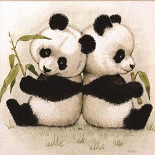 wgkgh DIY Pintura Por Números Para Adultos Pinturas Al Óleo Seniors Niños Lona Kits De Los Dibujo Lienzo Principiante Decoración De Casa Pinturas Panda de la sala 50CMX60CM
