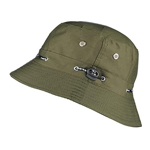 TOUTACOO, Sombrero para el Verano, Gorro para Hombre y Mujer, Ajustable (Caqui)