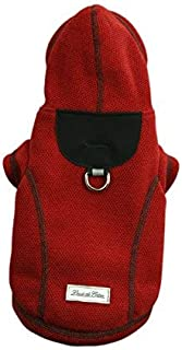 Louie de Coton Honeycomb Polar Fleece Thermal Small Dog Jacket with Hoody Made in USA by