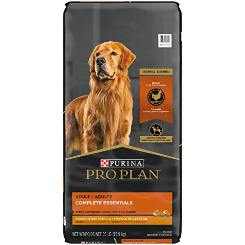 Purina Pro Plan High Protein Dog Food With Probiotics for Dogs, Shredded Blend Chicken & Rice Formula - 35 lb. Bag