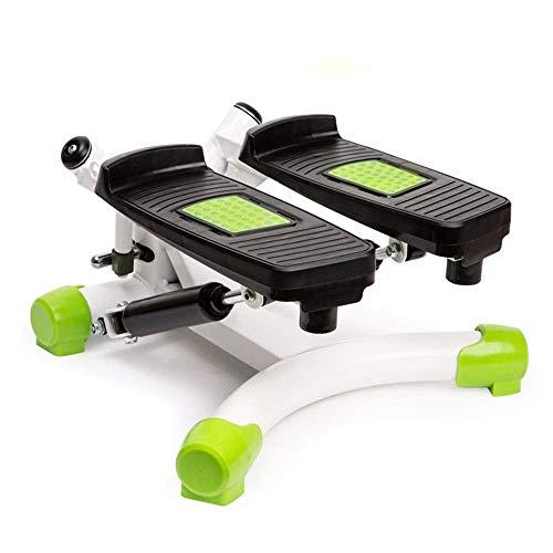 HYY-AA Paso a paso interior de fitness escalera paso a paso ajustable Mini Gimnasio Máquinas de ejercicios paso a paso ejercicio Cardio Trainer Torsión Acción Mini de pasos (Color: Verde, Tamaño: 42x4