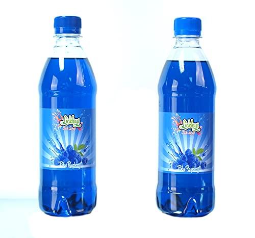 Blu lampone Slush Sciroppo 1 litro (2x500ml bottiglie)