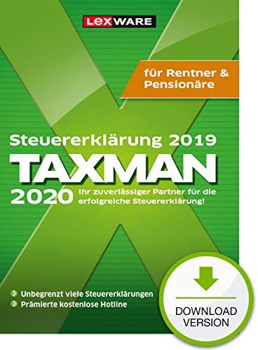 Lexware Taxman 2020 Download für das Steuerjahr 2019|Übersichtliche Steuererklärungs-Software für Rentner und Pensionäre