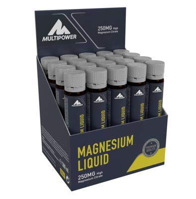 Multipower Magnesium Liquid, 20 x 25 ml Ampullen