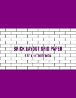 """Brick Layout Grid Paper: Use For Beadwork Pattern And Embroidery Smocking Design Beading Graph Paper Notebook - Purple Cover (Large 8.5"""" X 11"""")"""