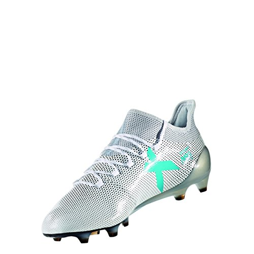 adidas Herren X 17.1 FG Fußballschuhe, Weiß (Footwear White/Energy Blue/Clear Grey), 41 1/3 EU