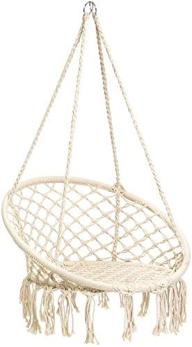 Best Best Choice Products Handwoven Cotton Macramé Hammock Hanging Chair Swing for Indoor & Outdoor Use