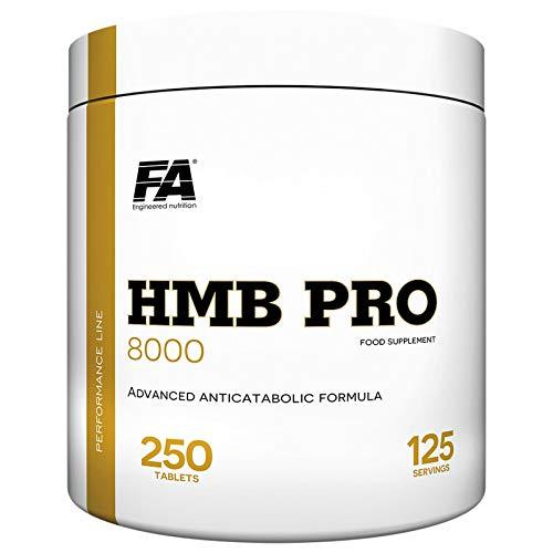FITNESS AUTHORITY HMB PRO 250 Tablets - Lean Mass & Strength Builder - Reduzierung des Fettgewebes - 125 Portionen - Nahrungsergänzungsmittel - Anabolikum & Antikatabolikum