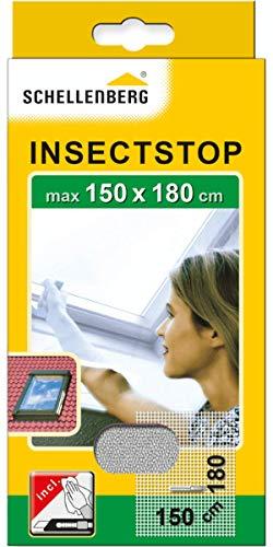 Schellenberg 50328 Fliegengitter für Dachfenster mit Reißverschluss, Insektenschutz, Mückenschutz, 150 x 180 cm