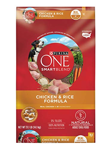 Purina ONE Natural Dry Dog Food, SmartBlend Chicken & Rice Formula - 31.1 lb. Bag