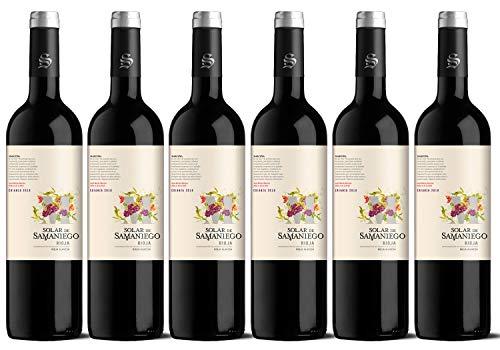 """Solar de Samaniego Vino Tinto Vegano Crianza 2018. D.O.CA. Rioja Alavesa. Ed. Palabras Recuperadas letra """"M"""" de Marceño. Caja de 6 botellas x 75cl"""