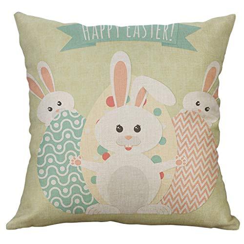Preisvergleich Produktbild ODRD Frohe Ostern Kissenbezüge / Cartoon Rabbit Throw Pillow Case 45x45cm / Kissen Kissenbezug Pillow Case Cushion Cover für Sofa Car Home Decoration