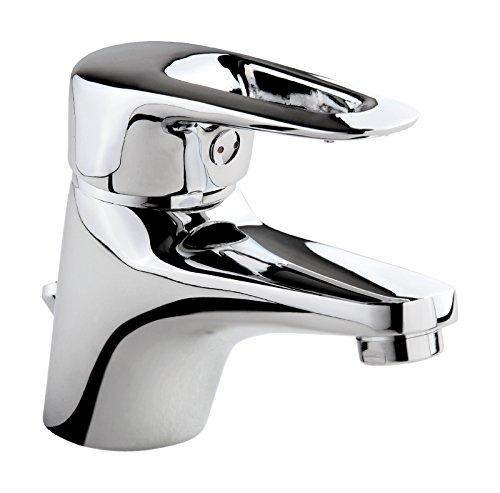 'aquaSu® Einhandmischer Luna für Waschtisch | Chrom | Wasserhahn | Einhebelmischer