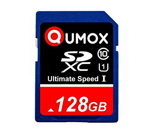 QUMOX 128GB SD XC 128 GB SDXC Class 10 UHS-I Secure Digital Speicherkarte HighSpeed Schreibgeschwindigkeit 40 MB/s Lesegeschwindigkeit bis zu 80 MB/s