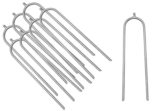 Upper Bounce Trampoline Stakes Heavy Duty Ground Spike U shaped Galvanised Steel Wind Guard Anchors Set Of 8