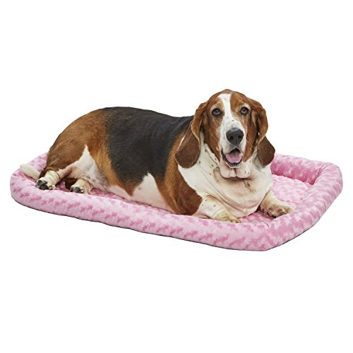36L-Inch Pink Dog Bed or Cat Bed w/ Comfortable Bolster | Ideal for Medium / Large Dog Breeds & Fits a 36-Inch Dog Crate | Easy Maintenance Machine Wash & Dry | 1-Year Warranty - 20% 40% AmazonPets Beds Cat customers Dog Equipment Food for from Homes It Keep Midwest on pets Save Selection Supplies to Top up