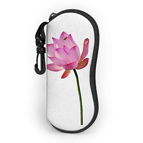 AEMAPE Estuche Lotus para anteojos para mujeres y hombres Estuche blando para gafas de sol portátiles con mosquetón