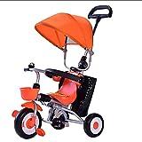GST Triciclos Triciclo Trike Carro de bebé 1-3 año Edad bebé Triciclo Plegable Baby Stroller Ajustable toldo Bolsa de Almacenamiento Freno Desmontable barandilla Baby Carro Baby Carro Buggy/a