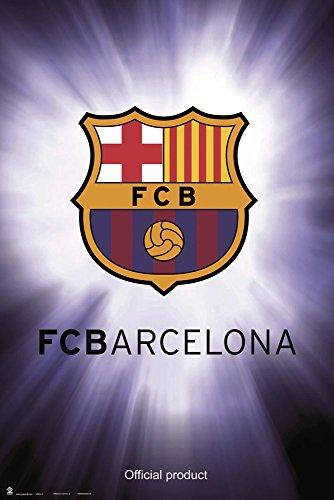 empireposter 737656 FC Barcelona - logo - sport voetbal poster affiche druk, papier, kleurrijk, 91,5 x 61 x 0,14 cm