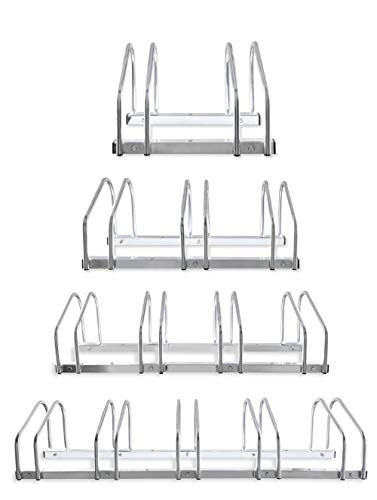 Hillington 2, 3, 4, 5 Bike Floor Or Wall Mount Bicycle / Galvanised Cycle Rack Storage Locking Stand Great For Garage, Garden Or Shed And For Security (Four Bikes)