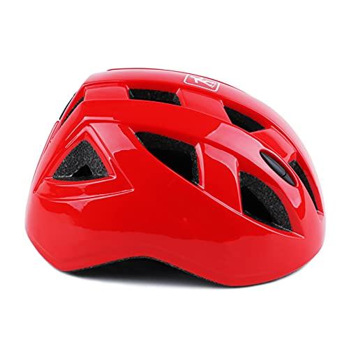 Yaxing Casco de Bicicleta para niños,Casco de Ciclismo Ajustable,Casco Bicicleta para niños y niñas,Casco de montaña Ligero,cómodo y Transpirable para la Seguridad en la conducción de Bicicletas