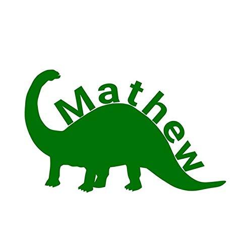 Dinosaurier-Wandaufkleber, benutzerdefinierte Namensaufkleber, Jungennamenaufkleber, Dinosaurieraufkleber, Vinylaufkleber, personalisierte Aufkleber 93X57CM