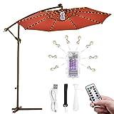 Catena di luci per ombrelli,B-right per ombrellone Illuminazione per ombrelloni Strisce luminose a LED con telecomando,batteria ricaricabile,104 LED,per la decorazione di ombrelli,tende da campeggio.
