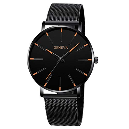 Quarzuhr Herren Armbanduhren,Evansamp Luxusuhren Glossy Quarzuhr Edelstahl Casual Armbanduhr(D)