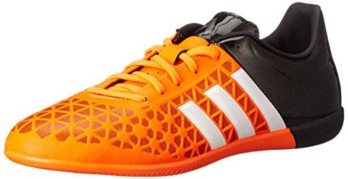 adidas Performance Ace 15.3 Zapatillas de fútbol para interiores J (niños pequeños/niños grandes), naranja (Solar Naranja/Blanco/Negro), 17