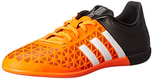 adidas Performance Ace 15.3 Zapatillas de fútbol para interiores J (niños pequeños/niños grandes), naranja (Solar Naranja/Blanco/Negro), 32
