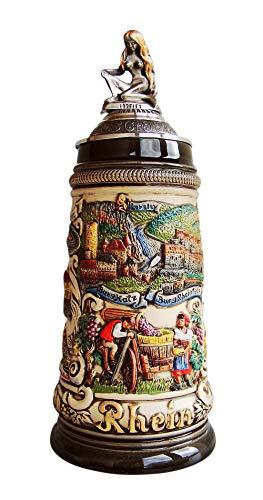 Zöller & Born Boccale da Birra Tedesco Germania rusticale, Il Reno 0,5 Litri ZO 1757/9013