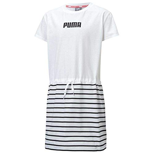 PUMA Alpha Dress G Vestido, Niñas, White, 8
