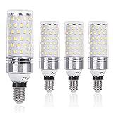 SanGlory Bombillas LED E14 12W, 1350LM Bombilla LED Maiz E14 6000K Blanco Frío, Pequeño Tornillo de Edison Bombillas LED E14 lámpara ahorro de energía, No Regulable - Caja de 4 unidades