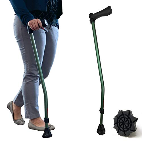 New Dynamo Cyclone Cane is the most modern cane tech ever. It's balanced, adjustable and sports a larger all-weather walking tip. The only cane you'll need (Green)