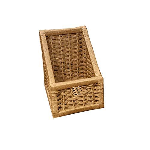 Cartones para embalaje Cesta de almacenamiento Simple tejido Caja de almacenamiento Cosméticos Caja de Snack Basket de almacenamiento de desechos Caja de cartón