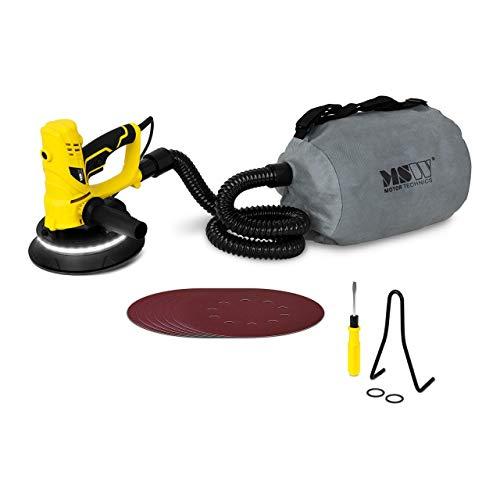MSW Lijadora De Pared En Seco Máquina De Lijado MSW-DWS850WL (Plato de lijado: Ø 180 mm, 850 W, Con LED y bolsa para recogida de polvo)