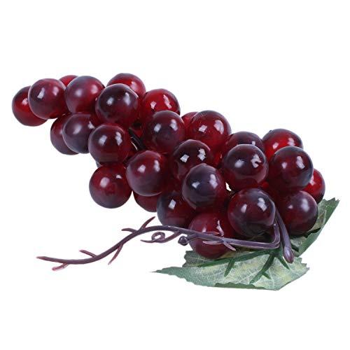 HLPIGF Fruta Fucsia Uvas de plastico de racimo Decorativo Artificial