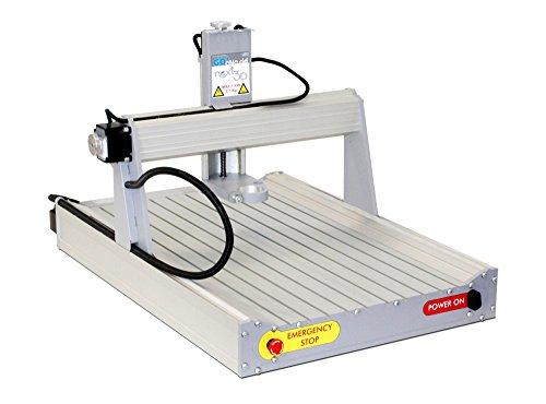 CNC Fräse Fräsmaschine Graviermaschine Next3D Bausatz - Made in Germany, mit USB Steuerung und Software! T-Nut Aluminiumtisch (Größe M)