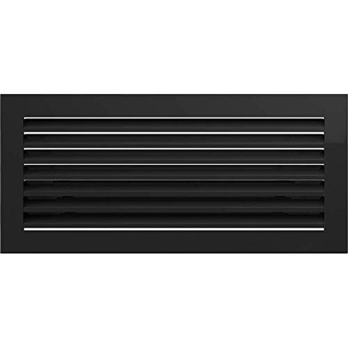 KRATKI Rejilla de ventilación para Chimenea, 17 x 37 cm, Color Negro