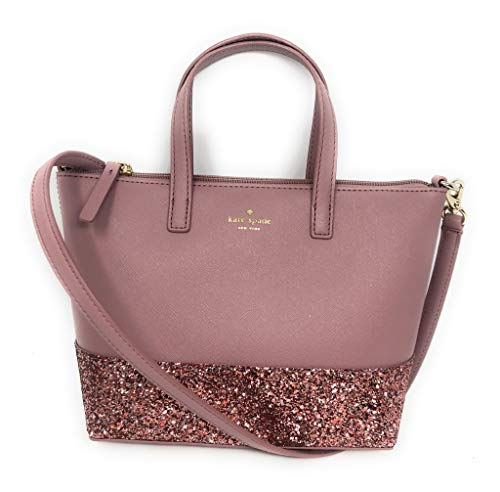 Kate Spade New York Ina Greta Court Glitter Crossbody Bag Top Handle Handbag, Dusty Peony, Medium