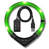 LEUCHTIE® Leuchthalsband Premium Easy Charge neongrün Größe 47,5 I LED Halsband für Hunde I USB aufladbar I konstante Leuchtkraft I wasserdicht I extrem hell