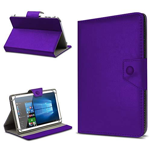 UC-Express Tablet Hülle für 10 Zoll Universal Hülle Cover Schutzhülle Kunstleder Tasche Etui, Farben:Lila, Tablet Modell für:Odys Visio